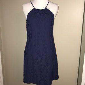 NWOT J. McLaughlin Navy Chain Link Halter Dress XS